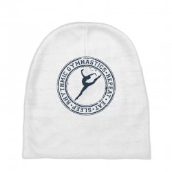Eat, sleep, Rhythmic gymnastics, Repeat III Baby Beanies | Artistshot