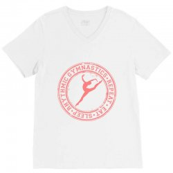 Eat, sleep, Rhythmic gymnastics, Repeat IV V-Neck Tee | Artistshot