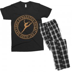 Eat, sleep, Rhythmic gymnastics, Repeat II Men's T-shirt Pajama Set | Artistshot