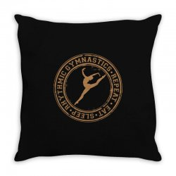 Eat, sleep, Rhythmic gymnastics, Repeat II Throw Pillow | Artistshot