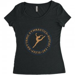 Eat, sleep, Rhythmic gymnastics, Repeat I Women's Triblend Scoop T-shirt | Artistshot