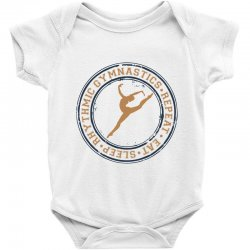 Eat, sleep, Rhythmic gymnastics, Repeat I Baby Bodysuit | Artistshot