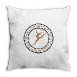 Eat, sleep, Rhythmic gymnastics, Repeat I Throw Pillow | Artistshot