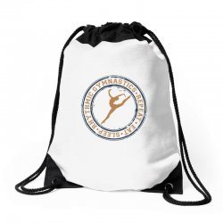 Eat, sleep, Rhythmic gymnastics, Repeat I Drawstring Bags | Artistshot