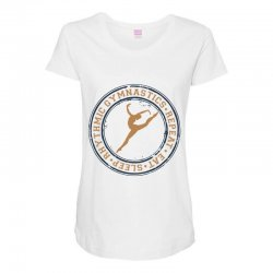 Eat, sleep, Rhythmic gymnastics, Repeat I Maternity Scoop Neck T-shirt | Artistshot