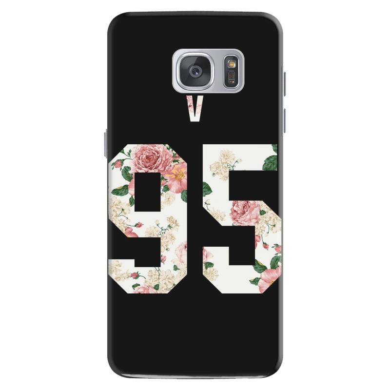 Custom Bts Squre With Floral Pattern Back V 95 Samsung Galaxy S7 Case By Akin