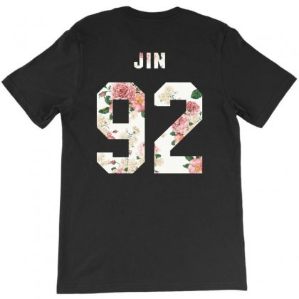 Bts Squre With Floral Pattern Back Jin 92 T-shirt Designed By Akin