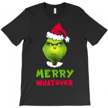 Merry Whatever Grinch T-shirt Designed By Akin