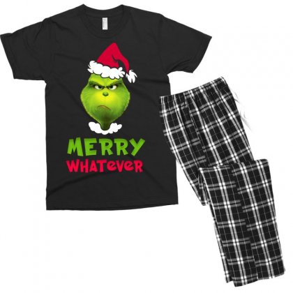 Merry Whatever Grinch Men's T-shirt Pajama Set Designed By Akin