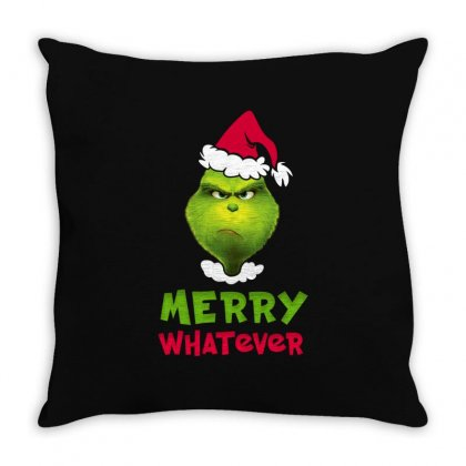 Merry Whatever Grinch Throw Pillow Designed By Akin