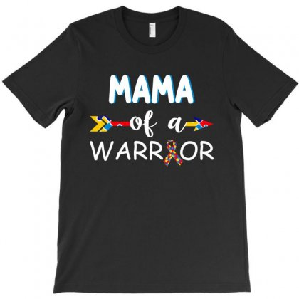 Mama Of A Autism Warrior T-shirt Designed By Tshiart