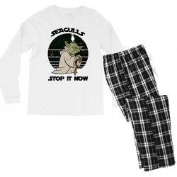 seagulls stop it now Men's Long Sleeve Pajama Set | Artistshot