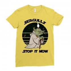 seagulls stop it now Ladies Fitted T-Shirt | Artistshot