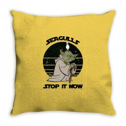 seagulls stop it now Throw Pillow | Artistshot