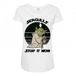 seagulls stop it now Maternity Scoop Neck T-shirt | Artistshot