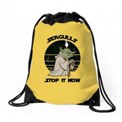 seagulls stop it now Drawstring Bags | Artistshot