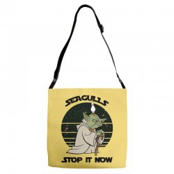 seagulls stop it now Adjustable Strap Totes | Artistshot