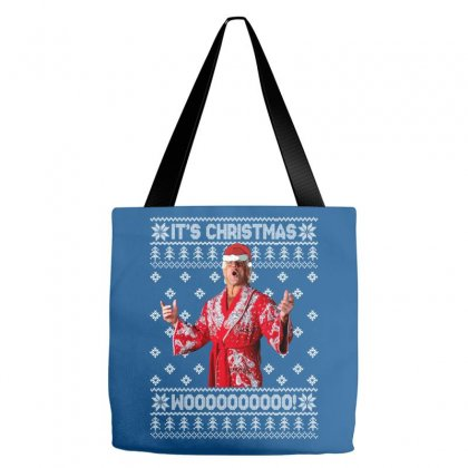 Ric Flair Christmas Ugly Tote Bags Designed By Sengul