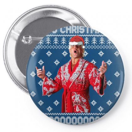 Ric Flair Christmas Ugly Pin-back Button Designed By Sengul