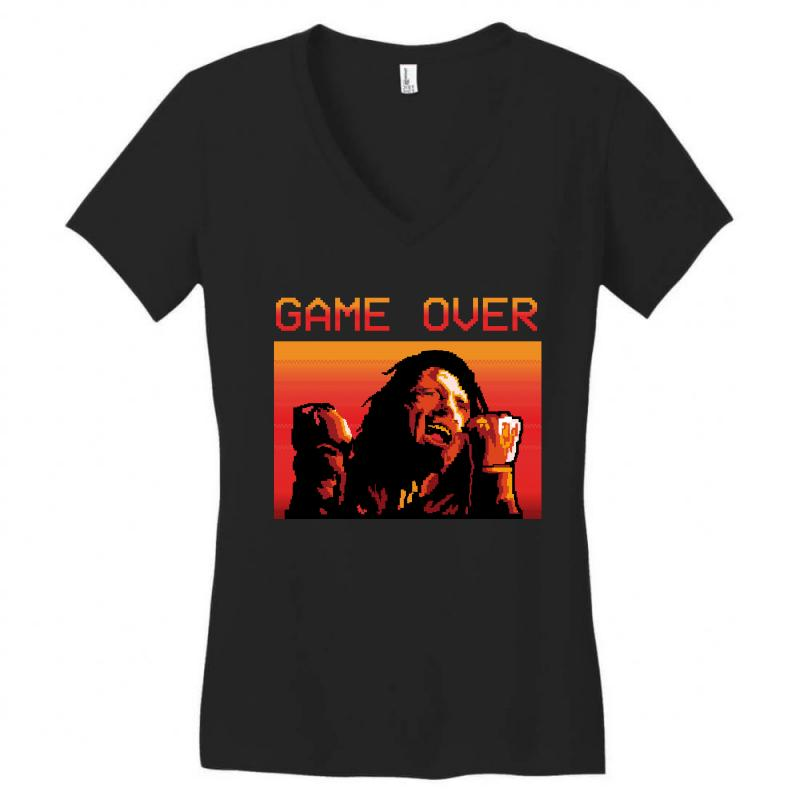 d5b4e962e243 Custom Game Over Tommy Women's V-neck T-shirt By Wizarts - Artistshot
