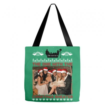 Friends Tv Show Ugly Christmas Tote Bags Designed By Sengul