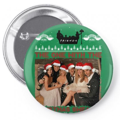 Friends Tv Show Ugly Christmas Pin-back Button Designed By Sengul