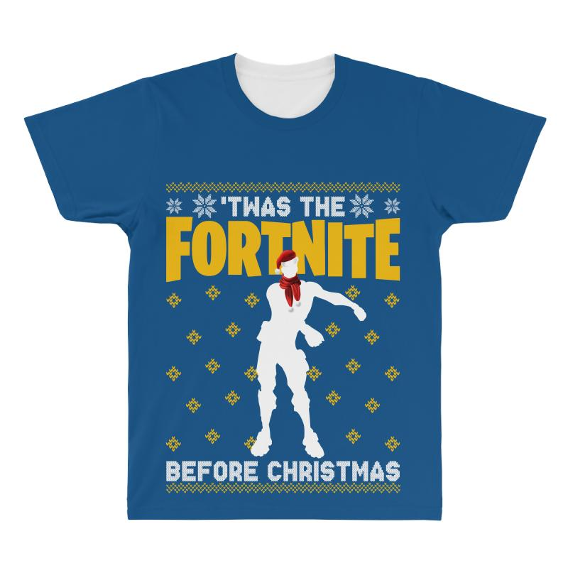 61957246 Custom Floss Fortnite Christmas Twas The Fortnite Before Christmas All Over  Men's T-shirt By Sengul - Artistshot