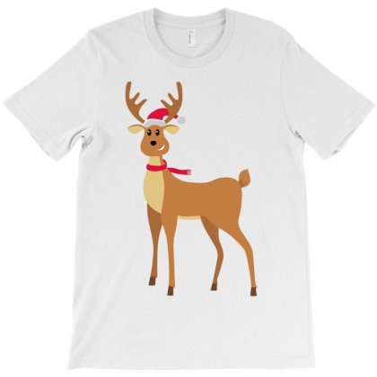 Christmas Reindeer T-shirt Designed By Black White