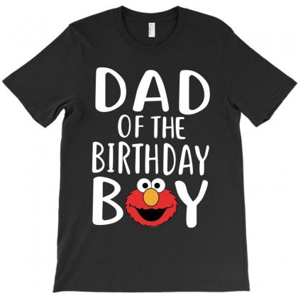 Elmo Dad White Print T-shirt Designed By Tshiart