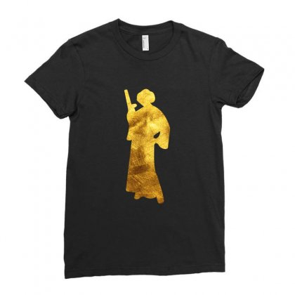 Princess Leia Gold Ladies Fitted T-shirt Designed By Sengul