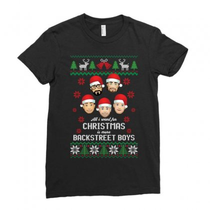 All I Want For Christmas Is More Backstreet Boys Ladies Fitted T-shirt