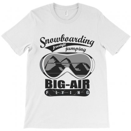 Snowboarding T-shirt Designed By Wizarts