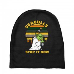 seagulls stop it now vintage shirt Baby Beanies | Artistshot