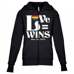 Love Wins Youth Zipper Hoodie | Artistshot