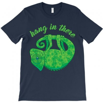 Hang In There Magical Chameleon T-shirt Designed By Fizzgig