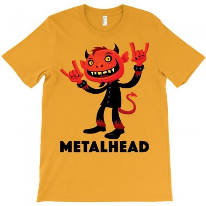 Heavy Metal Devil Metalhead T-shirt Designed By Fizzgig
