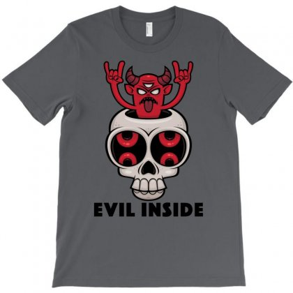 Possessed Skull Evil Inside T-shirt Designed By Fizzgig