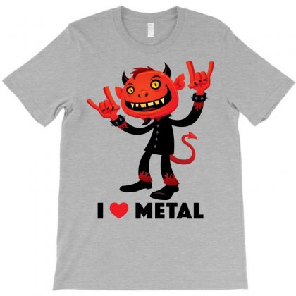 I Love Metal Devil T-shirt Designed By Fizzgig