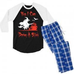 yes i can drive a stick funny Men's 3/4 Sleeve Pajama Set   Artistshot
