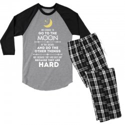 We Choose to Go to The Moon Men's 3/4 Sleeve Pajama Set | Artistshot