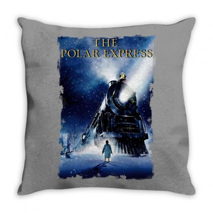 The Polar Express Christmas Throw Pillow Designed By Sengul
