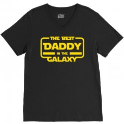the best daddy in the galaxy V-Neck Tee | Artistshot