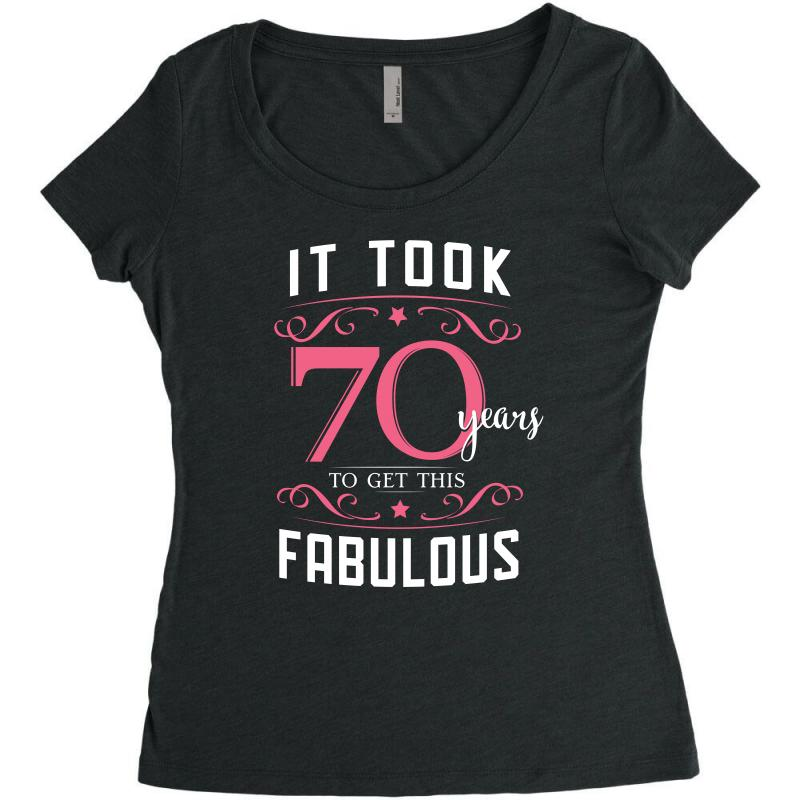 70th Birthday T Shirt Gift Womens Triblend Scoop