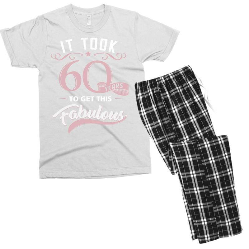 Fabulous 60th Birthday Tshirt And Gift Mens T Shirt Pajama Set