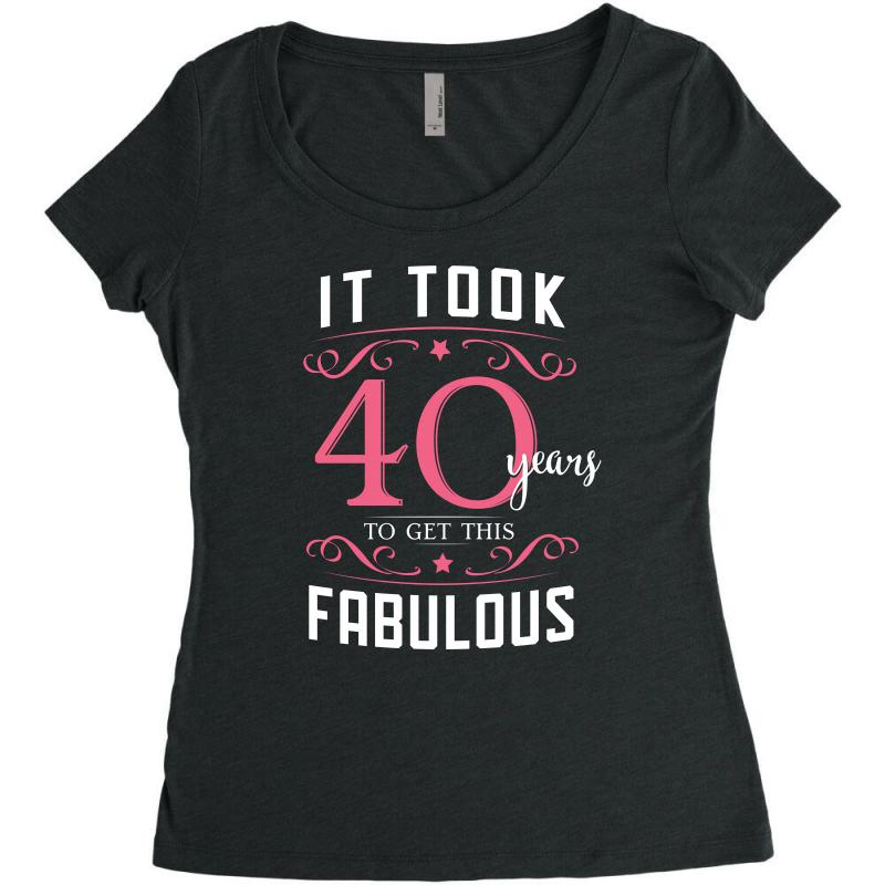 Custom 40th Birthday T Shirt And Gift Womens Triblend Scoop T Shirt