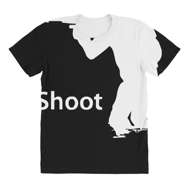 8ca0ff607b ishoot camera photographer trained shooting funny gun photo gift tee All  Over Women's T-shirt