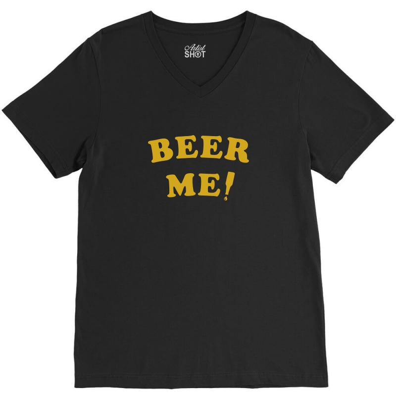 2289e14f beer me t shirt vintage beer t shirt funny beer shirt saying party tee  V-Neck Tee