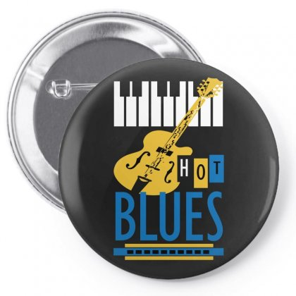 Blues Pin-back Button Designed By Igun
