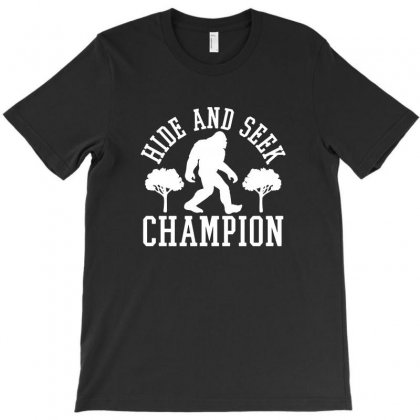 Bigfoot Hide And Seek Champion Funny T-shirt Designed By Tee Shop