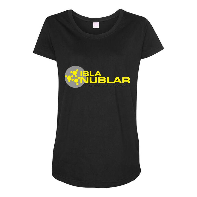 65142e219cff3 movie t shirt inspired by the film jurassic park isla nublar Maternity  Scoop Neck T-shirt